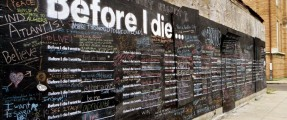 Before I die I want to . . .